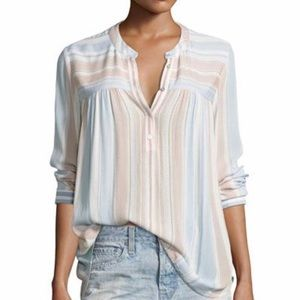 Adriano Goldschmied Striped Button Long Sleeve